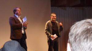 Johan och Anders mitt under invigningen.